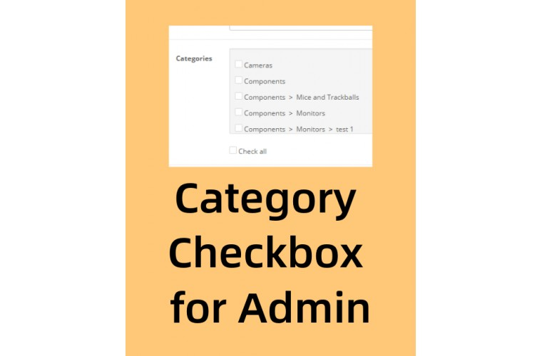 Opencart extension Category checkbox for admin product form