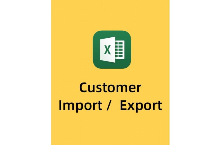 Opencart Extension Customer list import Export CSV, XLS, Xlsx