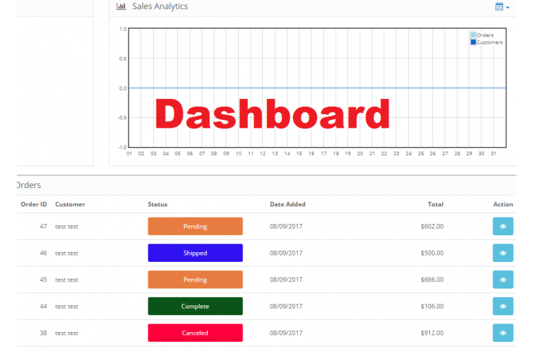 Opencart Extension Advanced Order status Manager with colors