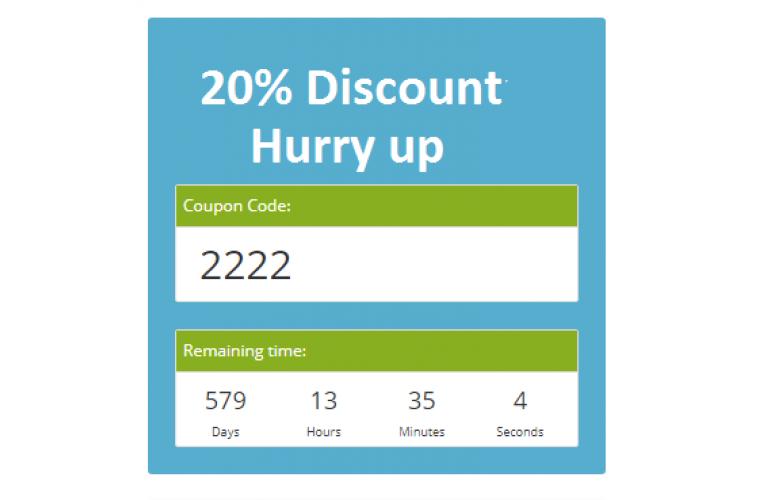 Opencart Extension Coupon expiring soon countdown module