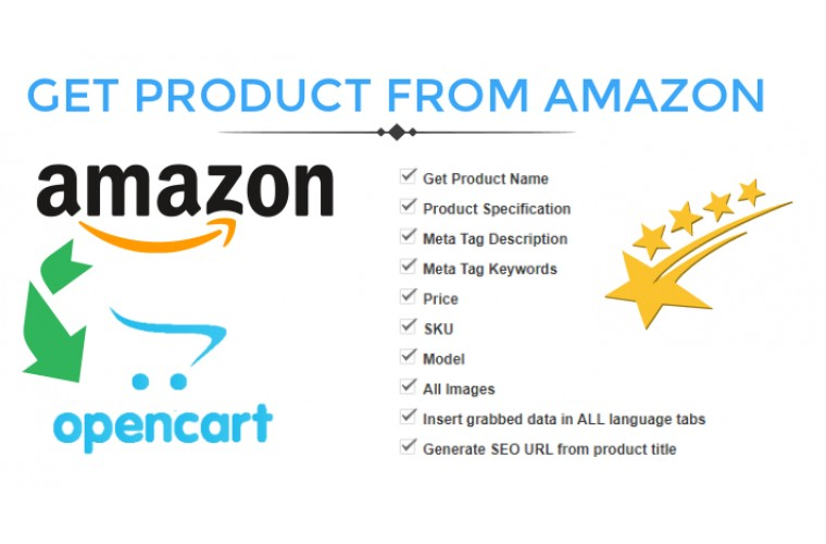 Opencart Extension Get Product data from amazon.com to Opencart store