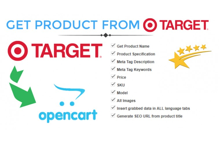 Opencart Extension Get Product data from target.com to Opencart store