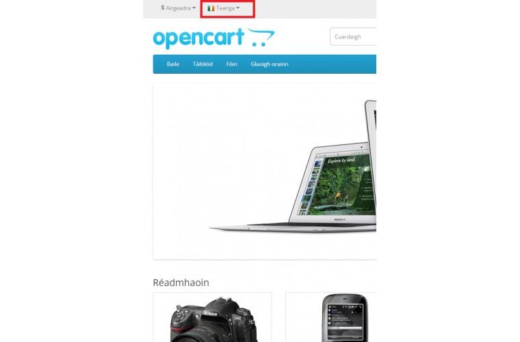 Opencart Irish Language Pack - Full Pack ( Front / Admin )