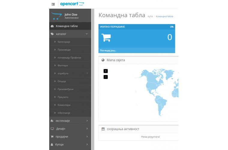 Opencart Serbian language (Cyrillic) Pack - Full Pack ( Front / Admin )