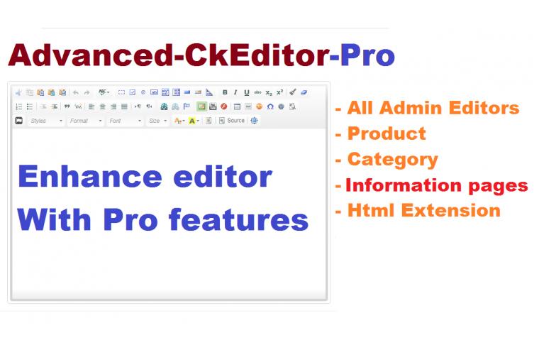 Opencart Extension Advanced Description text editor CKEditor