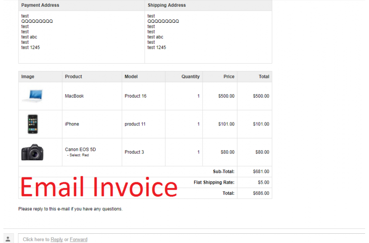 Opencart Extension Display product image on Order Invoice