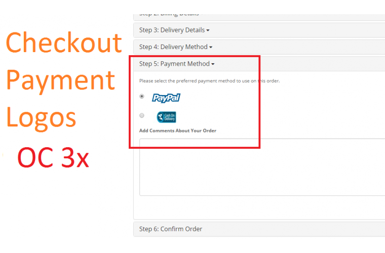Opencart Extension Checkout Payment Method logos