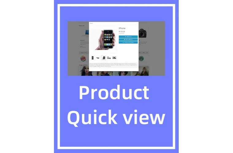 Opencart Extension Product Quick view