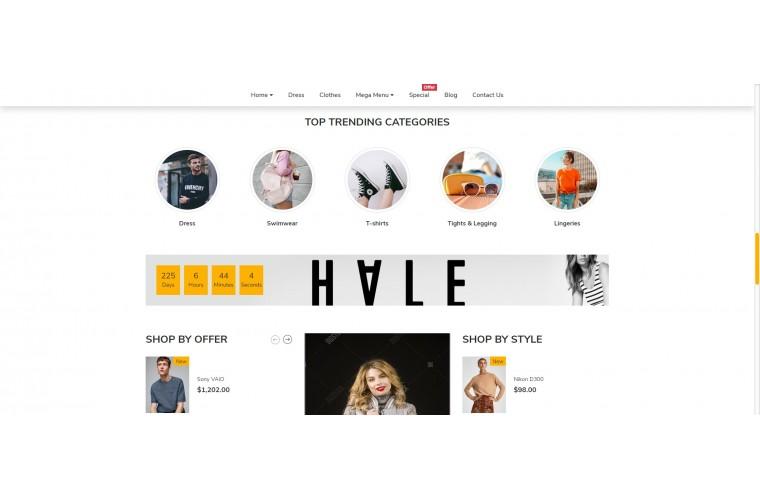 Cloth fashion Fashion Opencart 3 Multipurpose theme