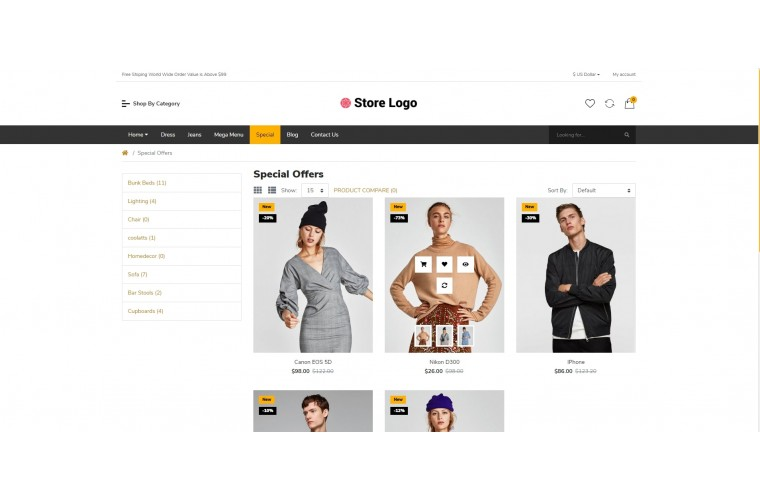 Fashion Bigshop Advanced Responsive OpenCart Theme