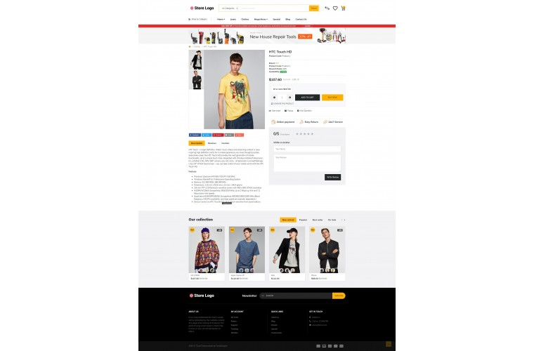 Fashion Market Shop - Advanced OpenCart Theme