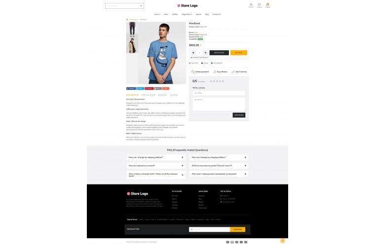 Beauty Fashion Shop - Responsive OpenCart theme