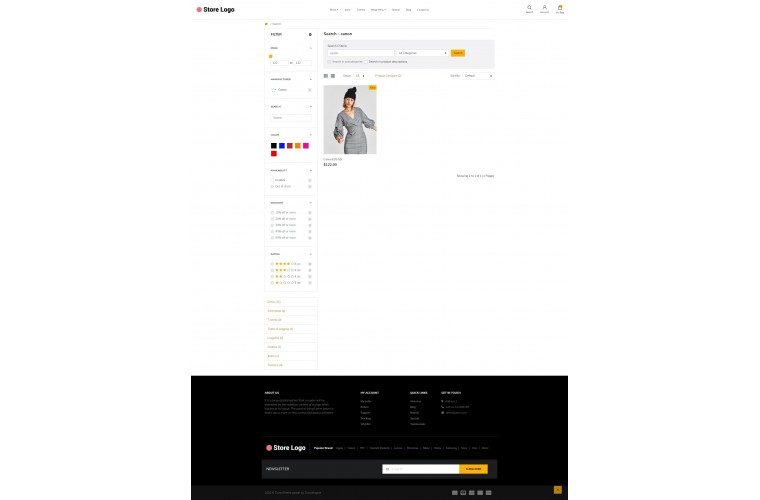 Unisex fashion Advanced opencart theme