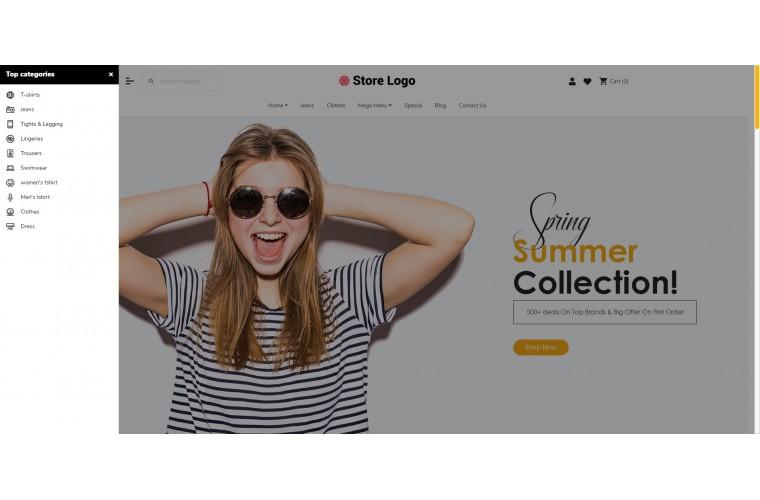 Fast Fashion Advanced Opencart theme