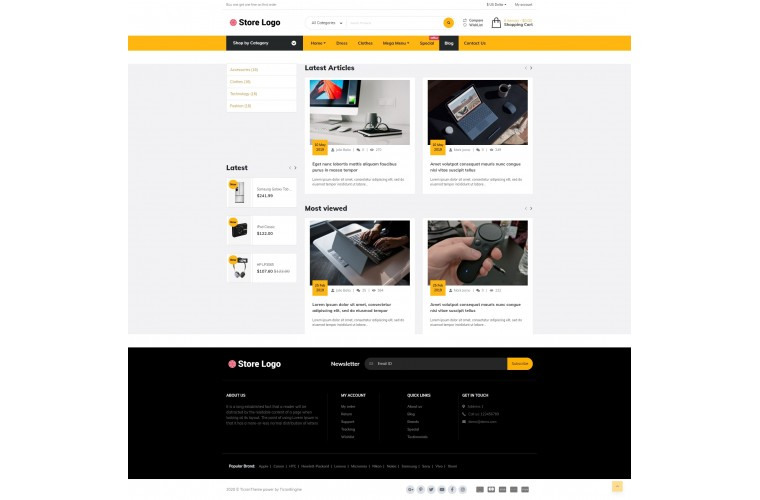 Electra Opencart fully responsive theme
