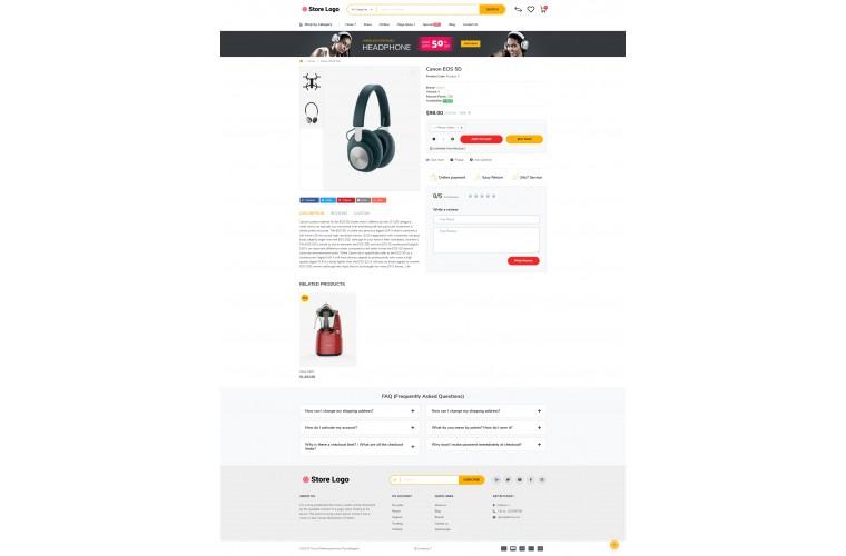 Retail Electric Opencart 3 opencart 4 Responsive theme