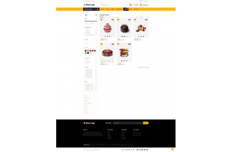 Grand Cake Opencart fully responsive theme