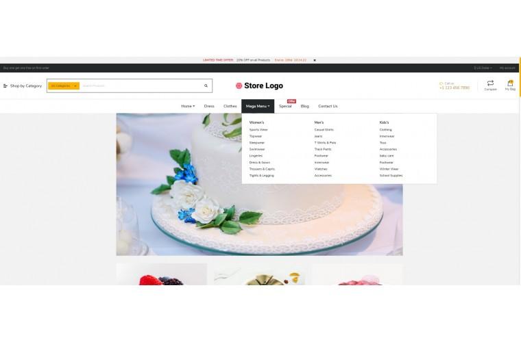 NUVO - Cake & Bakery Opencart 3 Multipurpose theme