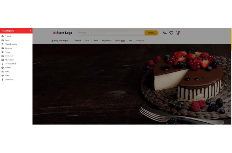 Cake Bakery Opencart 3 opencart 4 Responsive theme