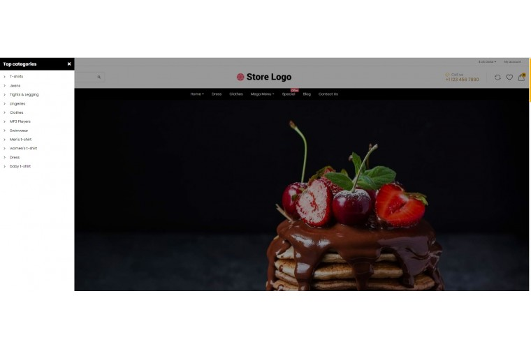 OC Cake Multi Purpose Opencart theme