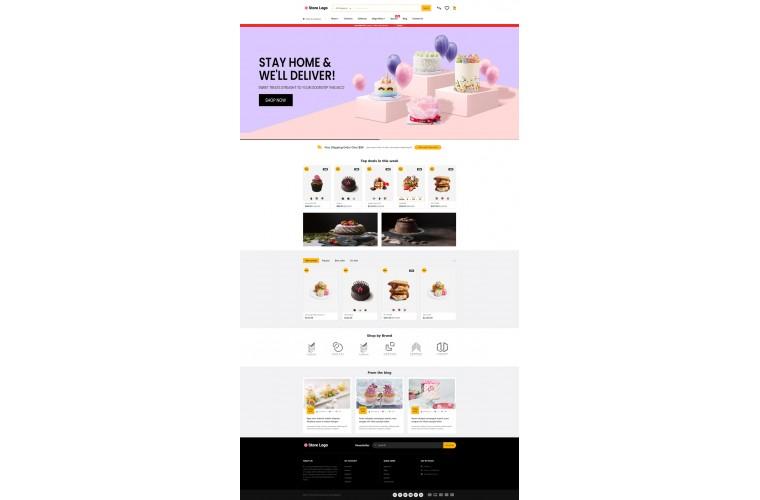 Journal Cake Bakery Advanced Opencart Theme