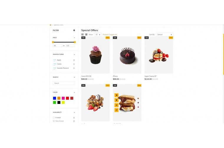 Shopica Cake Advanced Opencart Theme
