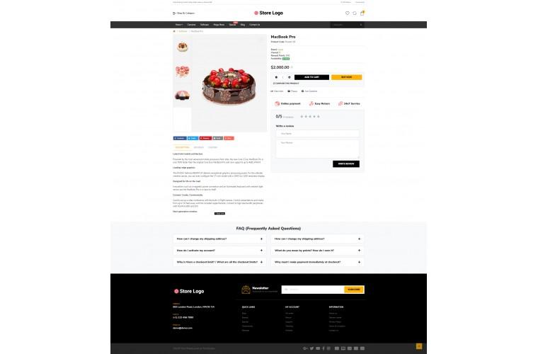 Cake Market Shop - Multi-Purpose OpenCart Theme