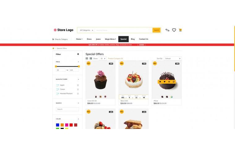 Rzen Cake - Multi-Purpose OpenCart Theme