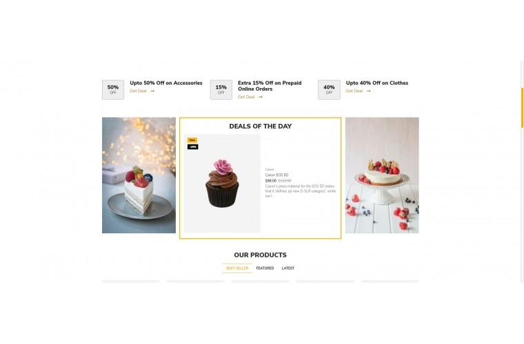 Cake Bigshop Advanced Responsive OpenCart Theme