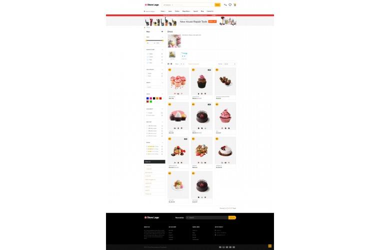 Cake Market Shop - Advanced OpenCart Theme