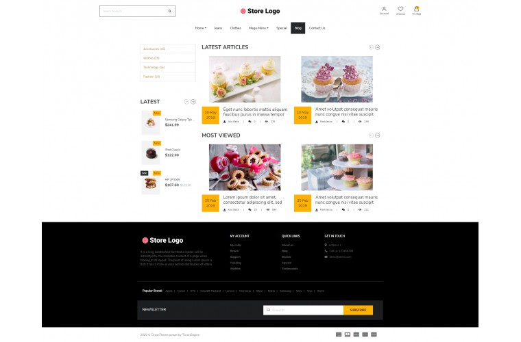 Next Bakery Shop - Responsive OpenCart theme