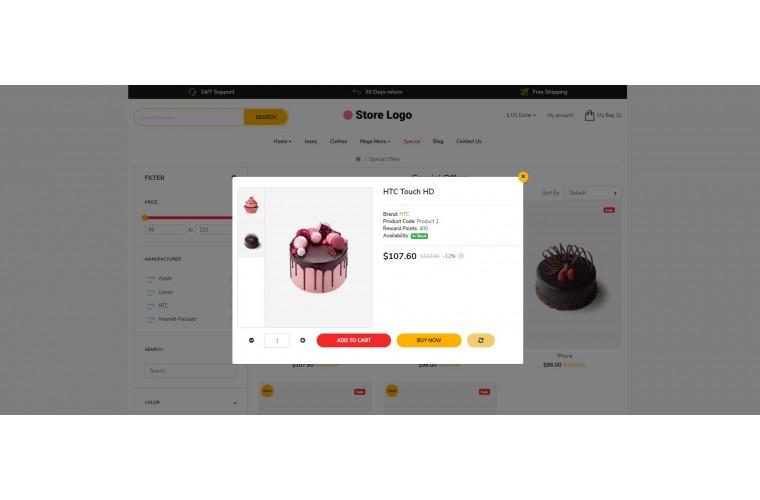 Cake Revo - Drag & Drop Multipurpose OpenCart Theme