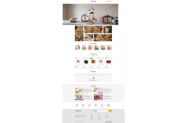 2021 Cake Light and fast OpenCart Theme