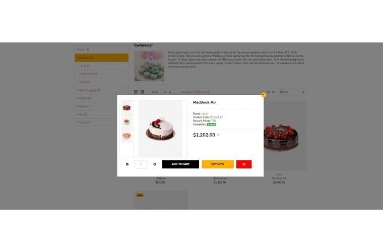 Cake Pro Clean responsive OpenCart Theme