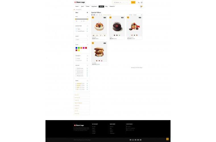 Faster Bakery Pro Opencart theme