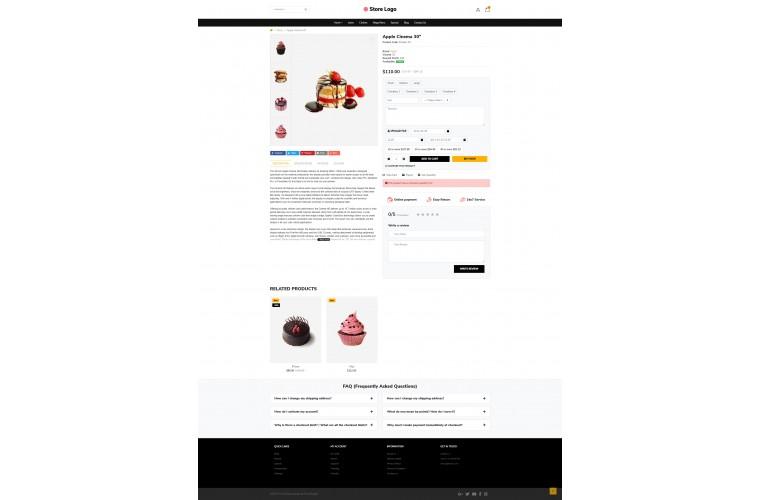 Light Bakery Cake Premium Opencart theme