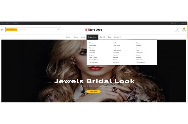 Diamond eMarket - Multipurpose MarketPlace OpenCart 3 Theme