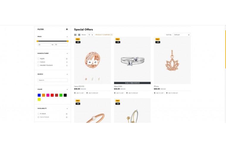 OXY Jewellery - Multi-Purpose Responsive OpenCart 3 Theme