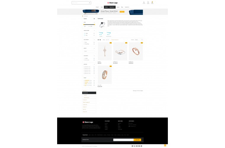 Next Jewellery Shop - Responsive OpenCart theme