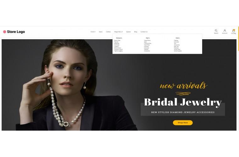 Jewellery store Advanced opencart theme