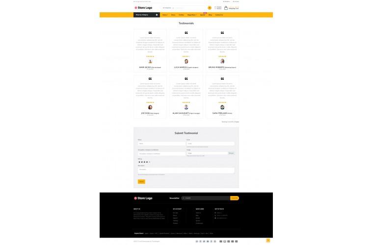 Grand Restaurant Opencart fully responsive theme