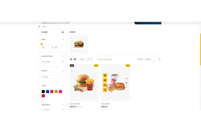 NUVO - Cafe & Restaurant Opencart 3 Multipurpose theme
