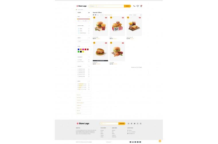Food Bakery Opencart 3 opencart 4 Responsive theme