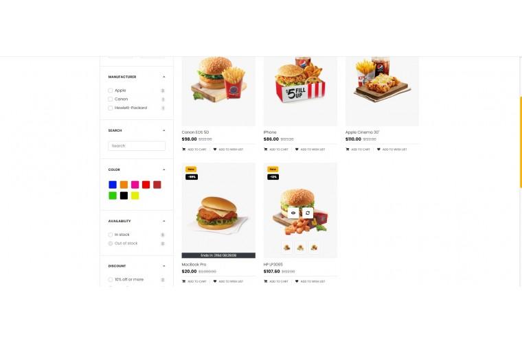 OC Food Multi Purpose Opencart theme