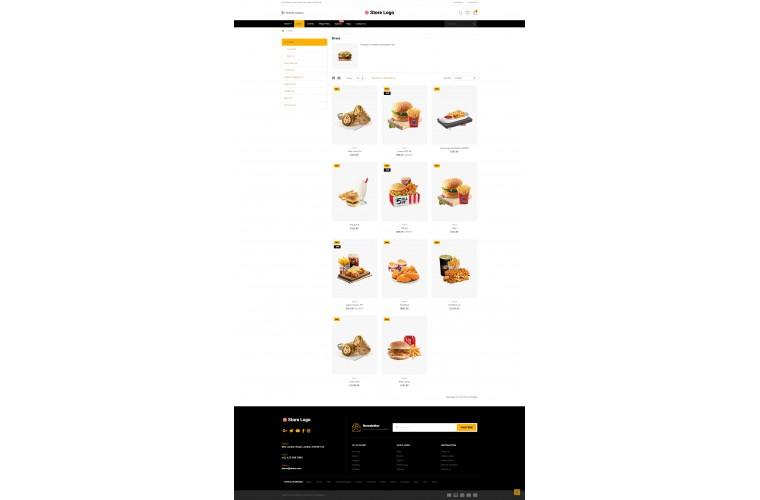 Easy Food Multi purpose Opencart theme