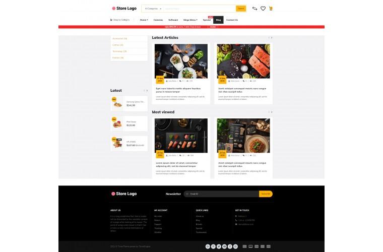 Journal Food Restaurant Advanced Opencart Theme