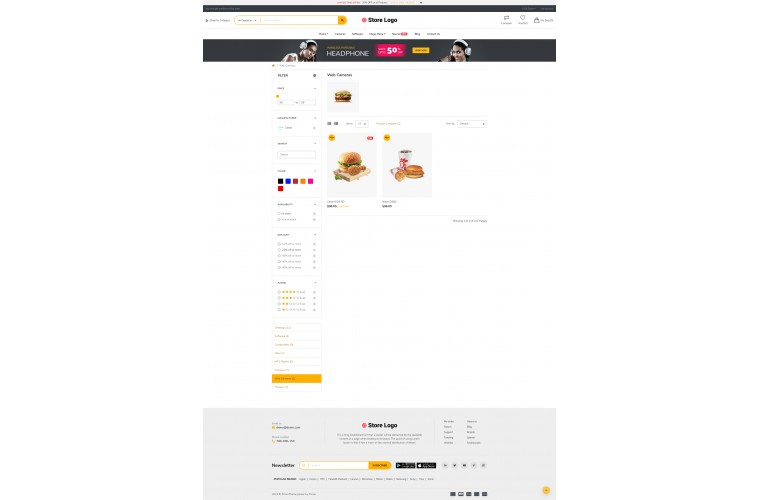 Fastor Food Advanced Opencart Theme