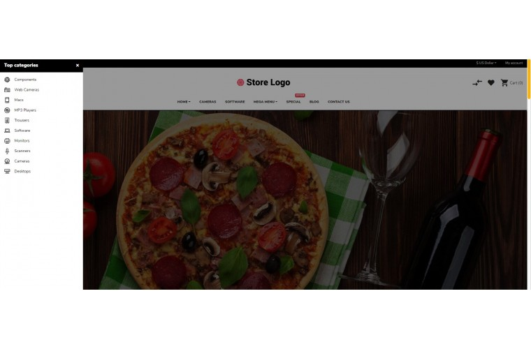 Sellegance Food Responsive and Clean OpenCart Theme