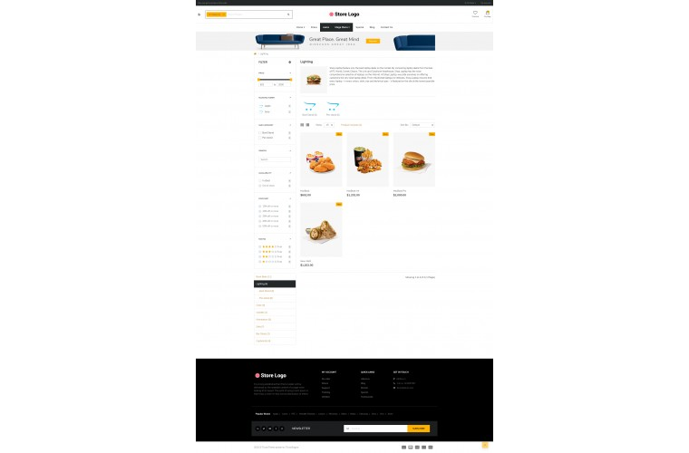 Food eMarket - Multipurpose MarketPlace OpenCart 3 Theme