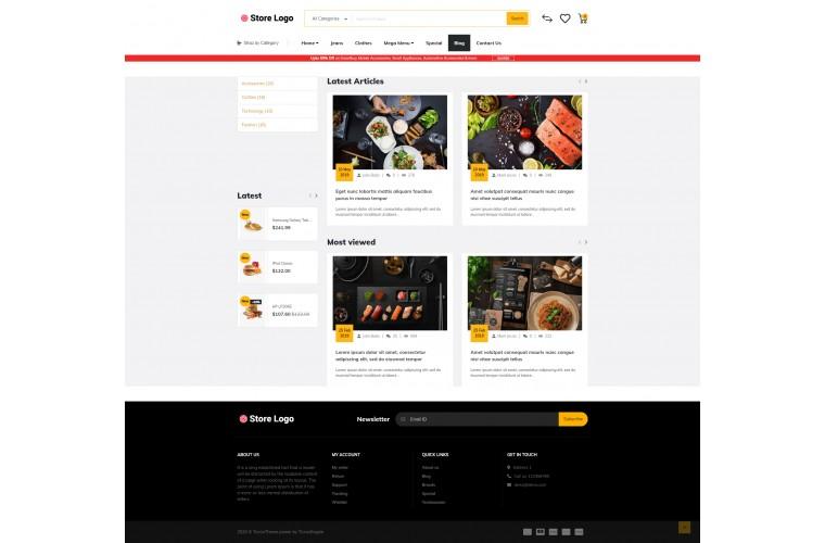 Food Market Shop - Advanced OpenCart Theme